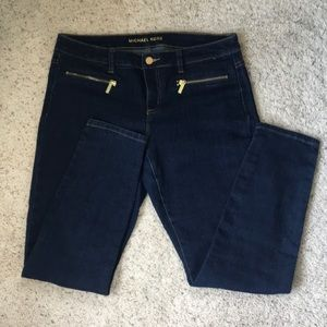 Michael Kors dark washed skinny jeans